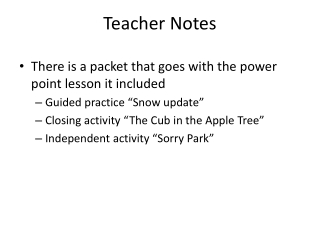 Power Point Lesson
