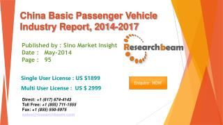 China Basic Passenger Vehicle Market Size, Share 2014-2017