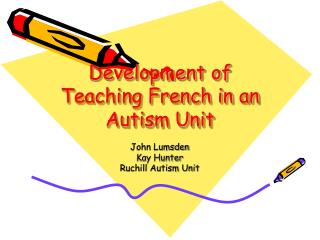 Development of Teaching French in an Autism Unit