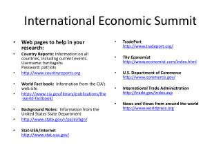 International Economic Summit
