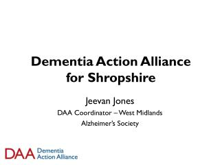Dementia Action Alliance for Shropshire