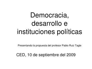 CED, 10 de septiembre del 2009