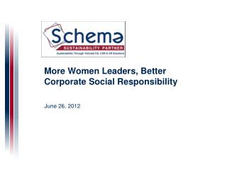 More Women Leaders, Better Corporate Social Responsibility