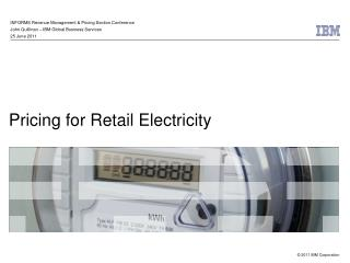 Pricing for Retail Electricity