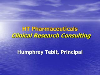 HT Pharmaceuticals Clinical Research Consulting