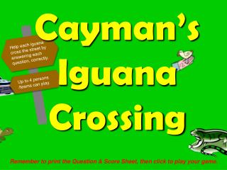 Cayman's Iguana Crossing