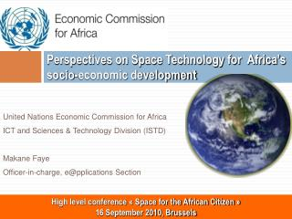 Perspectives on Space Technology for  Africa's socio-economic development