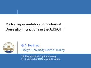 Mellin Representation of Conformal  Correlation Functions in the AdS/CFT