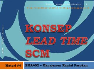 KONSEP  LEAD TIME  SCM