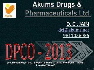 Akums  Drugs &  Pharmaceuticals Ltd.