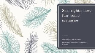 Sex, rights, law, fun- some scenarios