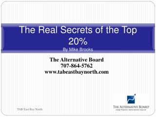 The Real Secrets of the Top 20% By Mike Brooks