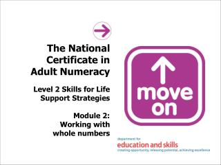 The National Certificate in Adult Numeracy Level 2 Skills for Life Support Strategies Module 2: Working with whole numbe