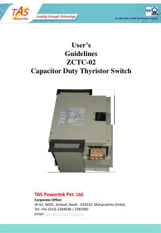 User's Guidelines ZCTC-02 Capacitor Duty Thyristor Switch