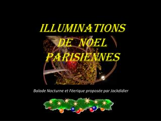 ILLUMINATIONS  DE  NOEL  PARISIENNES