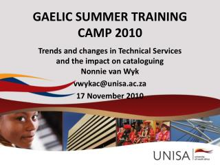 GAELIC SUMMER TRAINING CAMP 2010