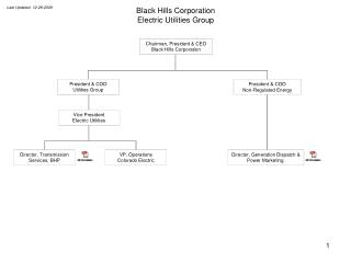 Black Hills Corporation Electric Utilities Group