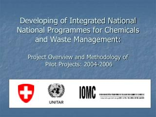 International Policy Framework Affecting Chemical Management Capacity Building