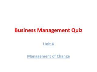 Business Management Quiz