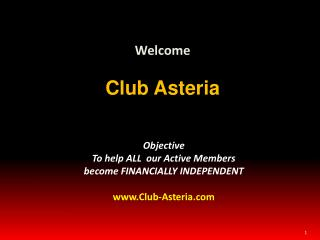 Welcome Club Asteria