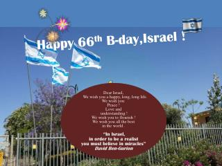 Happy 66 th  B- day,Israel  !
