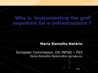 Why is 'instrumenting the grid'  important for  e -Infrastructure ?