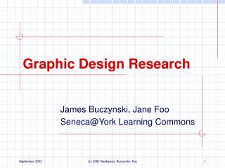 Graphic Design Research