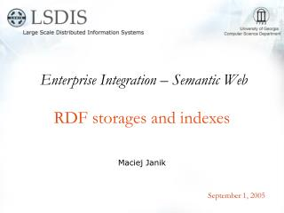 RDF storages and indexes