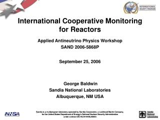 International Cooperative Monitoring for Reactors