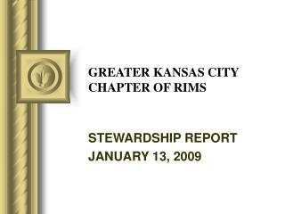 GREATER KANSAS CITY CHAPTER OF RIMS