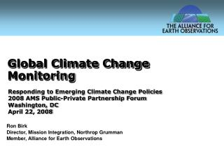 Global Climate Change Monitoring