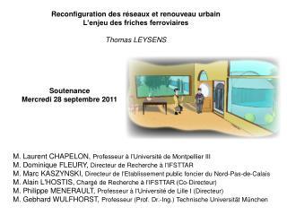 Soutenance Mercredi 28 septembre 2011