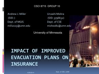 Impact of Improved Evacuation Plans on Insurance