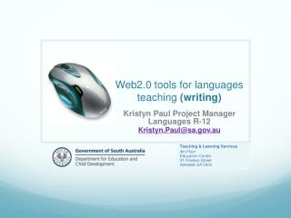 Web2.0 tools for languages teaching  (writing)