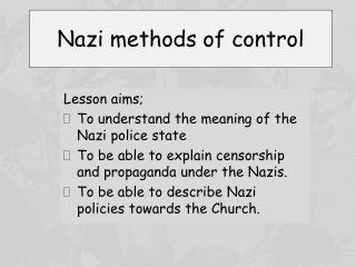 How did Hitler keep control