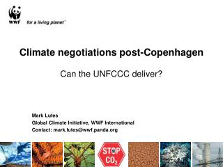 Climate negotiations post-Copenhagen Can the UNFCCC deliver?