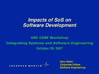 Impacts of SoS on  Software Development