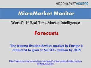 The trauma fixation devices market in Europe is estimated to