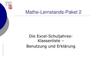 Mathe-Lernstands-Paket 2