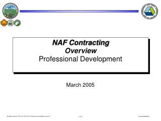 NAF Contracting Overview Professional Development