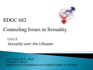 Unit II Sexuality over the Lifespan