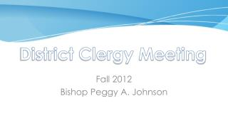District Clergy Meeting