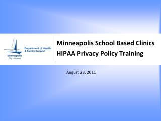 Minneapolis School Based Clinics