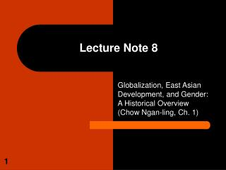 Lecture Note 8