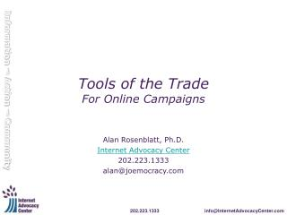Tools of the Trade For Online Campaigns