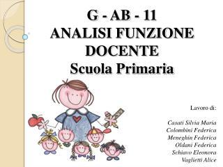 G - AB - 11  ANALISI FUNZIONE DOCENTE Scuola Primaria