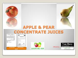 APPLE & PEAR  CONCENTRATE JUICES