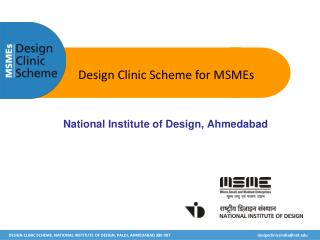 Design Clinic Scheme for MSMEs