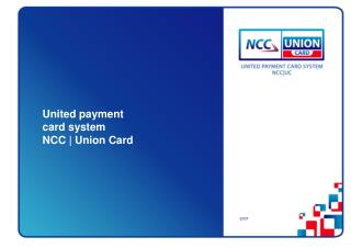 United payment  card system NCC | Union Card