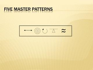 FIVE MASTER PATTERNS